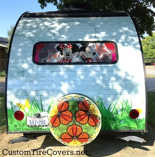 Custom tire cover, Jeep tire cover, spare tire cover, car advertising, advertising on your car, Tire Cover Central