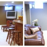 Basement makeover, man cave, theatre room, rec room, basement space