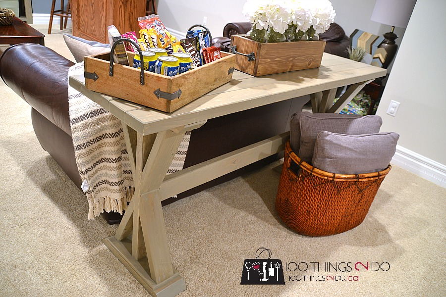 diy entryway table / sofa table - 100 things 2 do