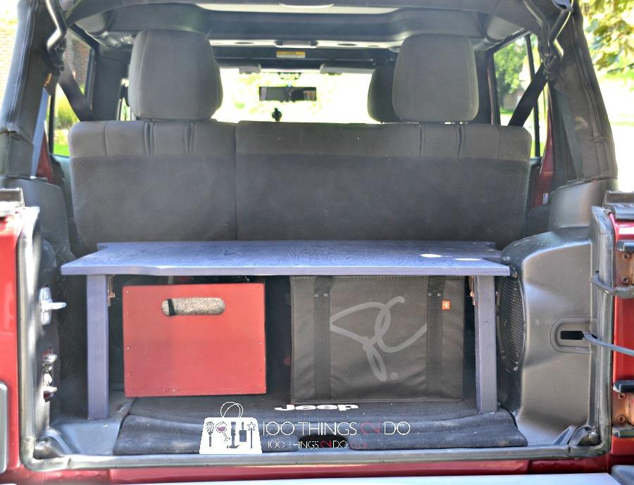 Trunk organizer, trunk organization, trunk shelf, SUV trunk, DIY trunk storage