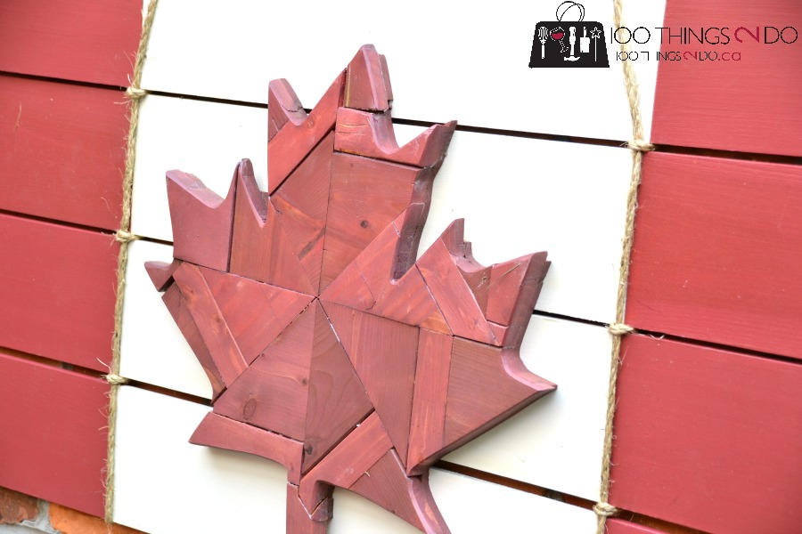 Scrap wood Canadian Flag, scrap wood leaf, Canadiana, Canadian flag, scrap wood project