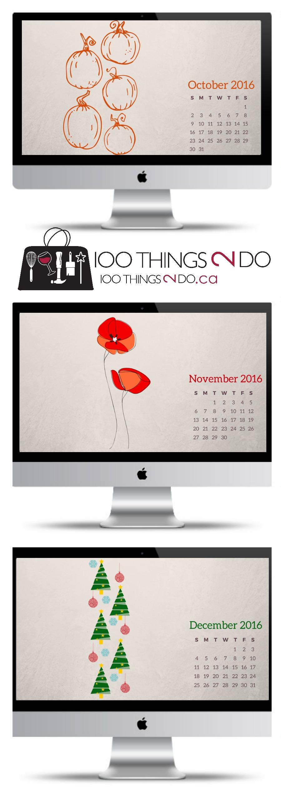 2016 calendar wallpaper, desktop wallpaper, screensaver, free wallpaper, free screensaver
