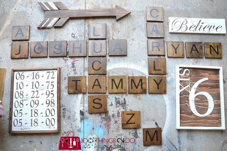 Scrabble wall, farmhouse gallery wall, farmhouse gallery, rustic gallery wall, gallery wall