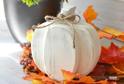 Scrap wood pumpkin, Fall decor, Autumn decor, white pumpkin, DIY pumpkin, wood pumpkin