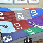 Easy t-shirt quilt, cheater t-shirt quilt, jersey blanket