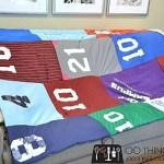 Easy t-shirt quilt, cheater t-shirt quilt, jersey blanket