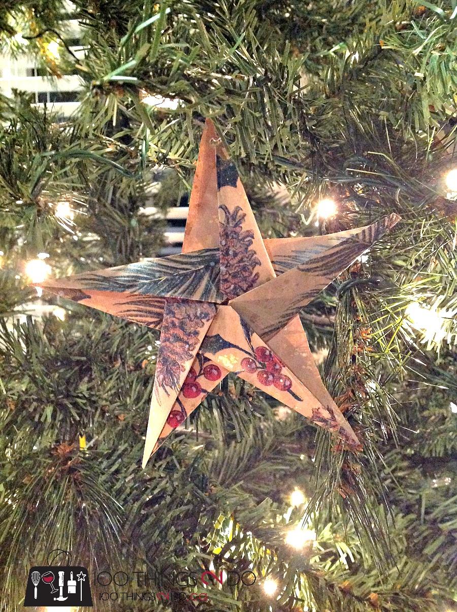 DIY ornaments, origami star, paper ornaments, paper stars