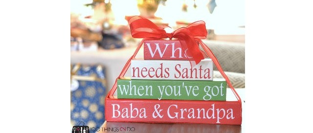 Who needs Santa wood gifts, wood gift pile, scrap wood Christmas gift, Christmas gift idea, Christmas decor, gift idea for grandparents