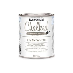 Rustoleum Chalked ultra matte paint in linen white