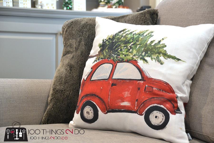 Holiday Home tour, Christmas home tour, volkswagon beetle with christmas tree