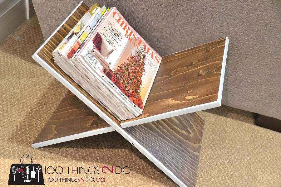 DIY magazine rack, scrap wood magazine rack, super-easy magazine rack