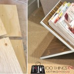 DIY magazine rack, scrap wood magazine rack, super-easy magazine rack