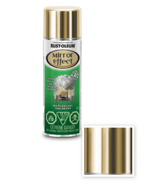 Rust-Oleum Mirror Effect spray in gold