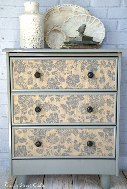 Ikea Rast hacks, 50 of the best Ikea Rast hacks, dresser makeover, nightstand makeover, decoupage dresser, Ikea rast makeover, nightstand, bedside table, Ikea hacks
