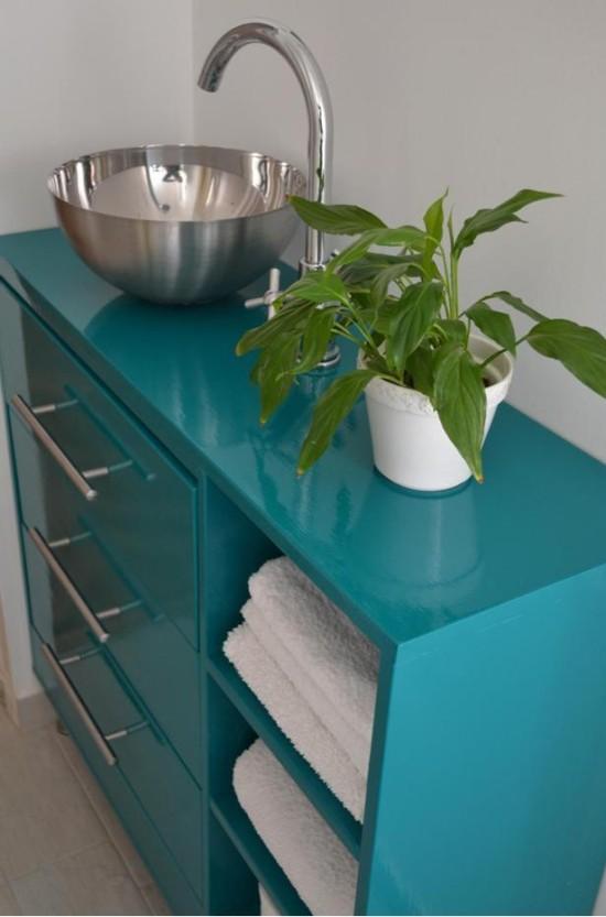 Ikea Rast hack, dresser turned bathroom vanity, Ikea rast makeover, nightstand, bedside table, Ikea hacks