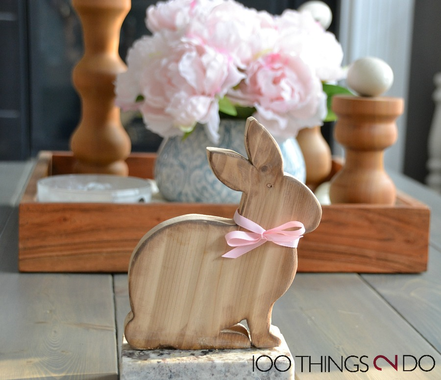 Easter decor, wood bunny, DIY easter decoration, bunny, Easter bunny, scrapwood project
