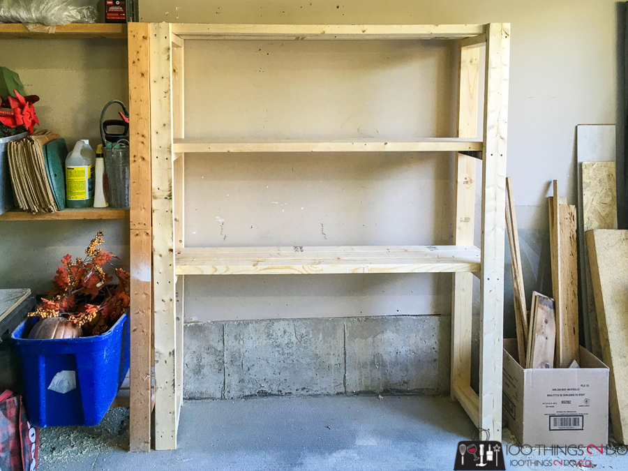 garage shelves, garage shelving, Ana White easy garage shelf, garage organization