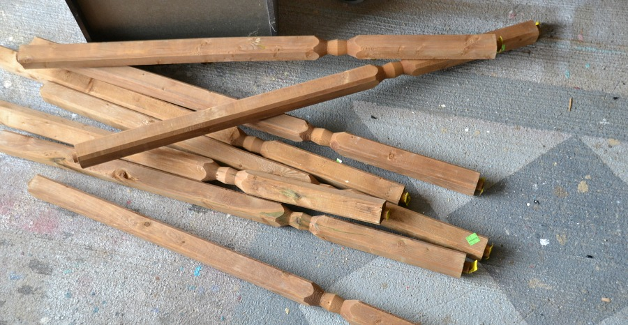 Deck spindles, Habitat for Humanity ReStore - London