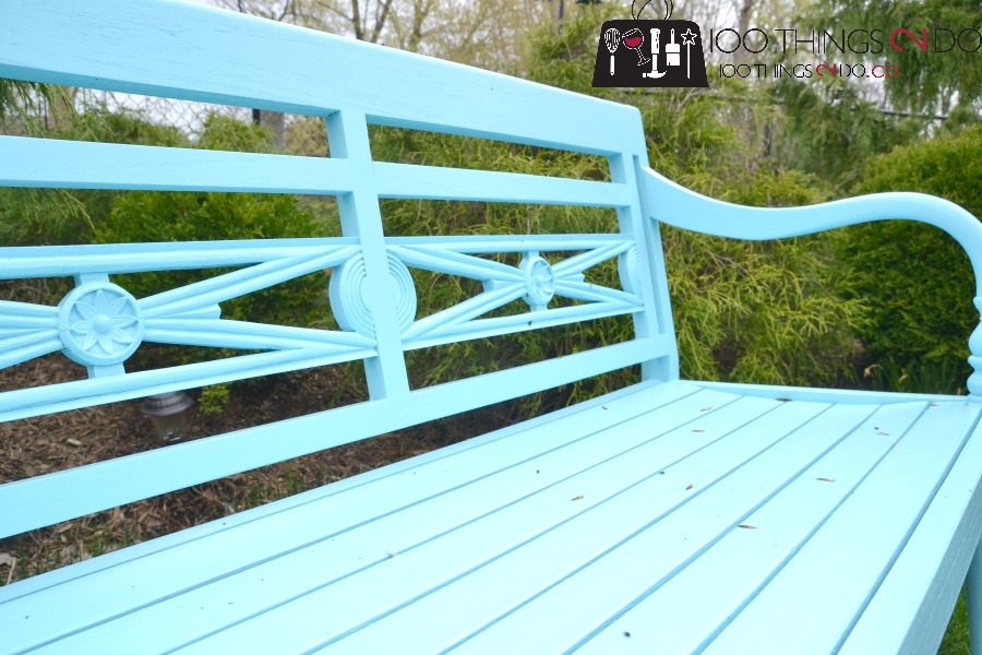 garden bench, garden bench makeover, before and after garden bench, bench, Rustoleum