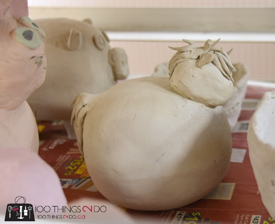 learning pottery, pinch pot, pottery horse, pinch pot horse