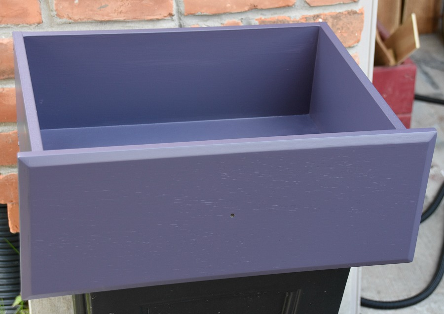 repurposed drawer, drawer shelf, upcycled drawer, create a shelf from a drawer, playground shelf, treehouse decor