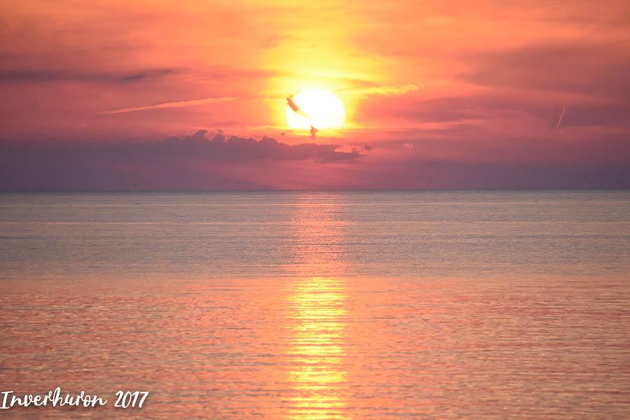 Sunset, Cottage living, Inverhuron, Lake Huron, beach, Kincardine, summer vacation