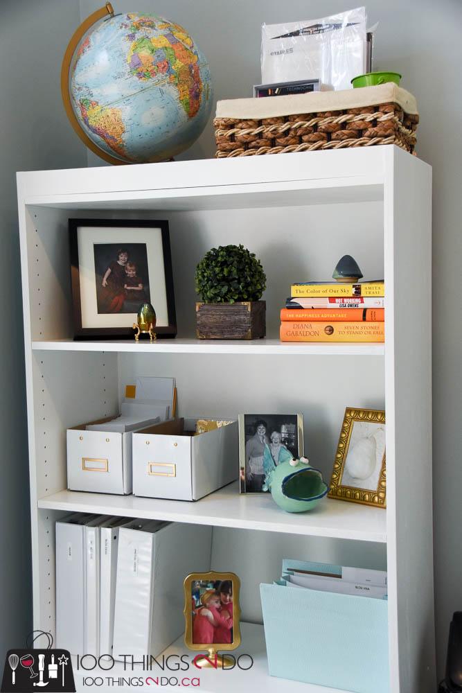 Office bookshelves, bookshelf, white bookshelf, white bookshelves, office makeover, home office, white office