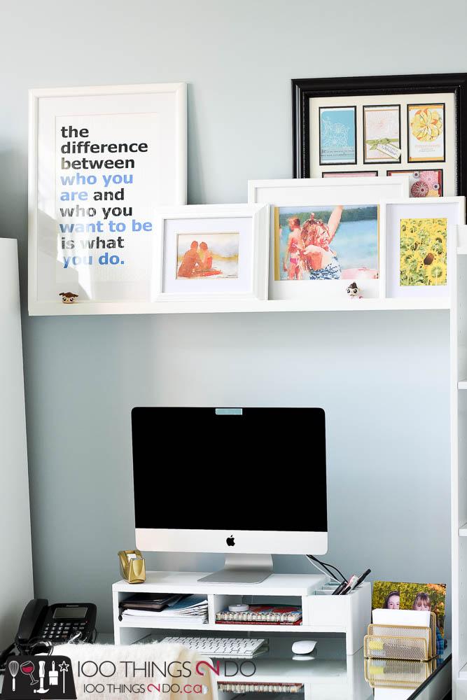Picture ledge, photo ledge, creating a picture ledge, decorating a picture ledge, how to decorate a photo ledge