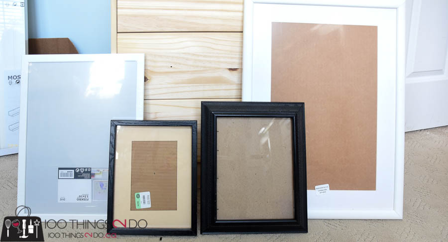 Mismatched picture frames