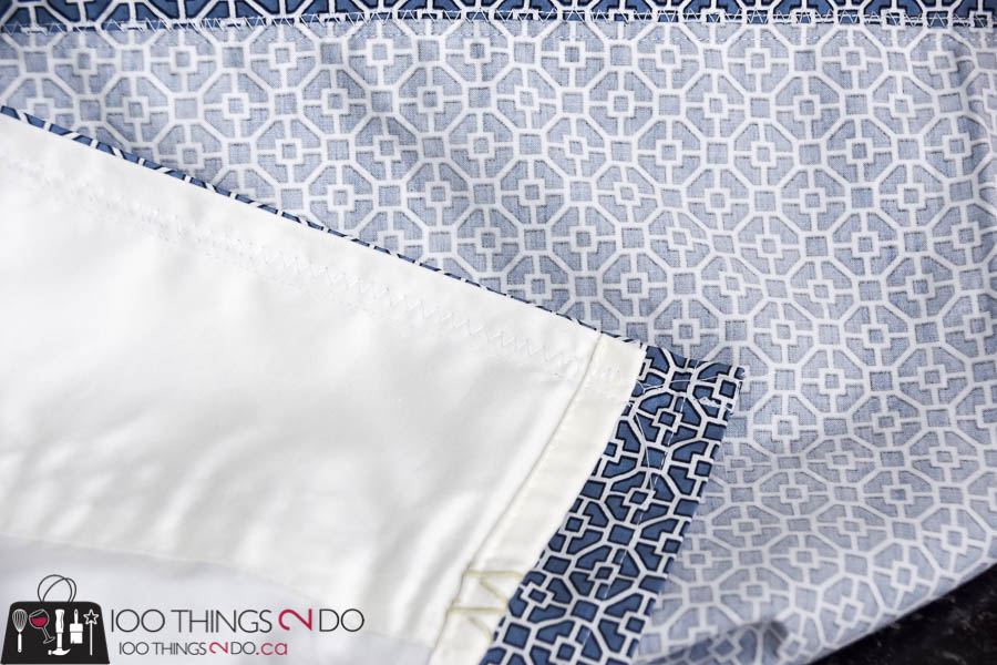 Next, sew from the finished top edge down one side, again reinforcing with a zig zag stitch afterwards. Easy sew duvet cover, DIY duvet ...