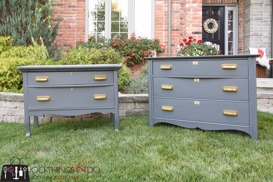 Dresser makeover, before and after dressers, antique dresser makeover, Liberty Hardware, gold handles, because the hardware makes the piece