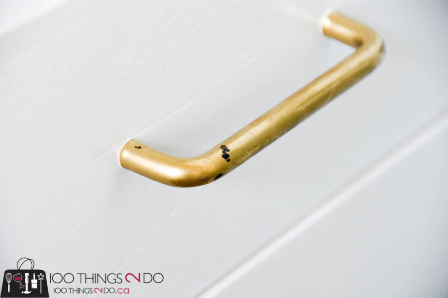 Gold handles, painted gold handles, Liberty Hardware, updating furniture hardware
