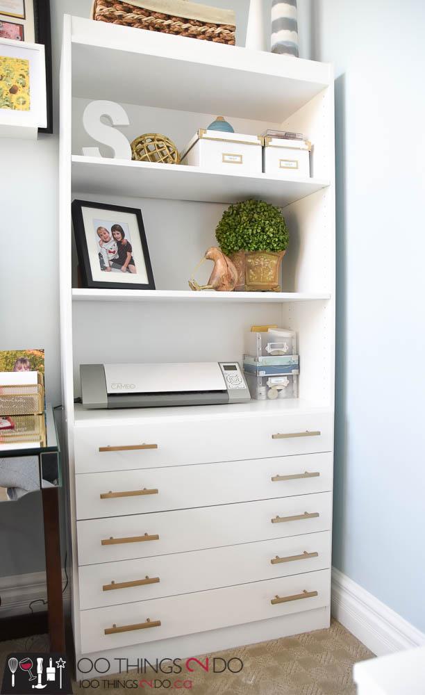 Gold handles, painted gold handles, Liberty Hardware, updating furniture hardware