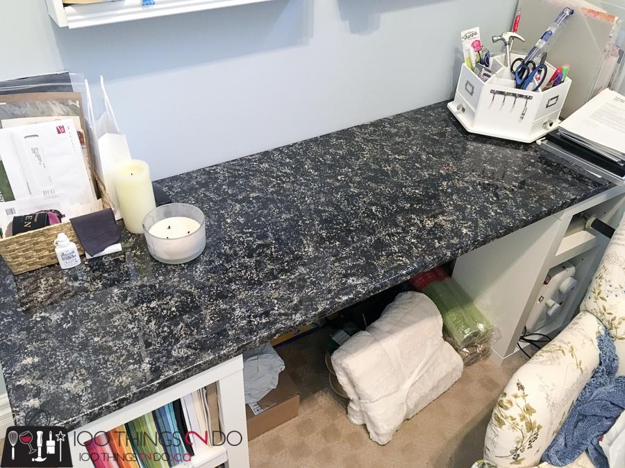 Faux-granite desktop