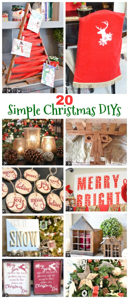 20 Simple Christmas DIYs, Christmas DIY, Easy Christmas crafts, DIY Christmas decor