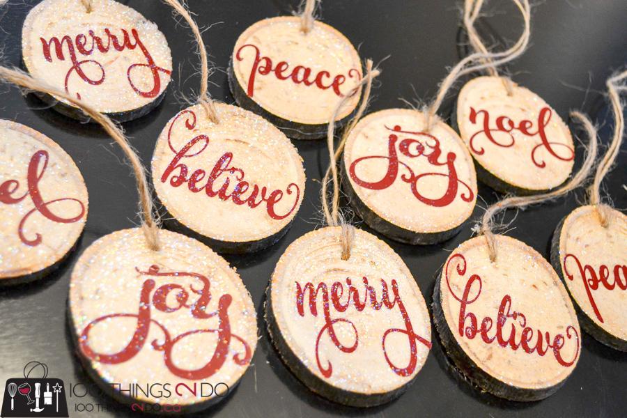 20 Simple Christmas DIYs, branch slice ornaments, rustic wood ornaments, Christmas DIY, Easy Christmas crafts, DIY Christmas decor