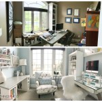 Home office makeover, craft room makeover, craft room, feminine home office, home office, One Room Challenge, ORC