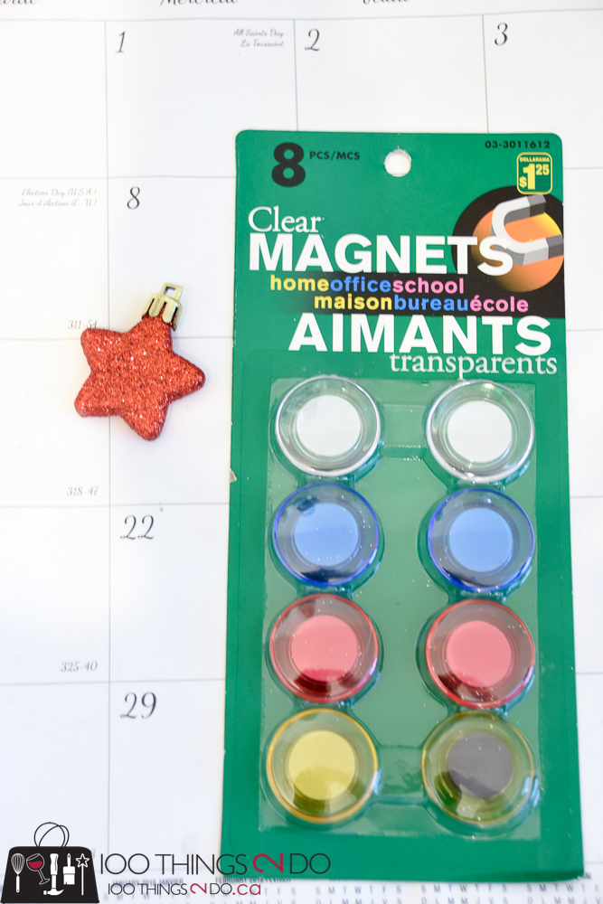 Magnetic advent calendar, Pottery Barn knock-off, DIY advent calendar, Christmas advent, M-D Building Products