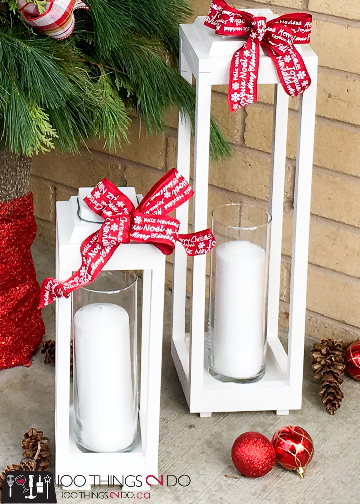 Make your own scrap wood lanterns, DIY rustic lanterns, white lanterns, Christmas lanterns, DIY wood lanterns