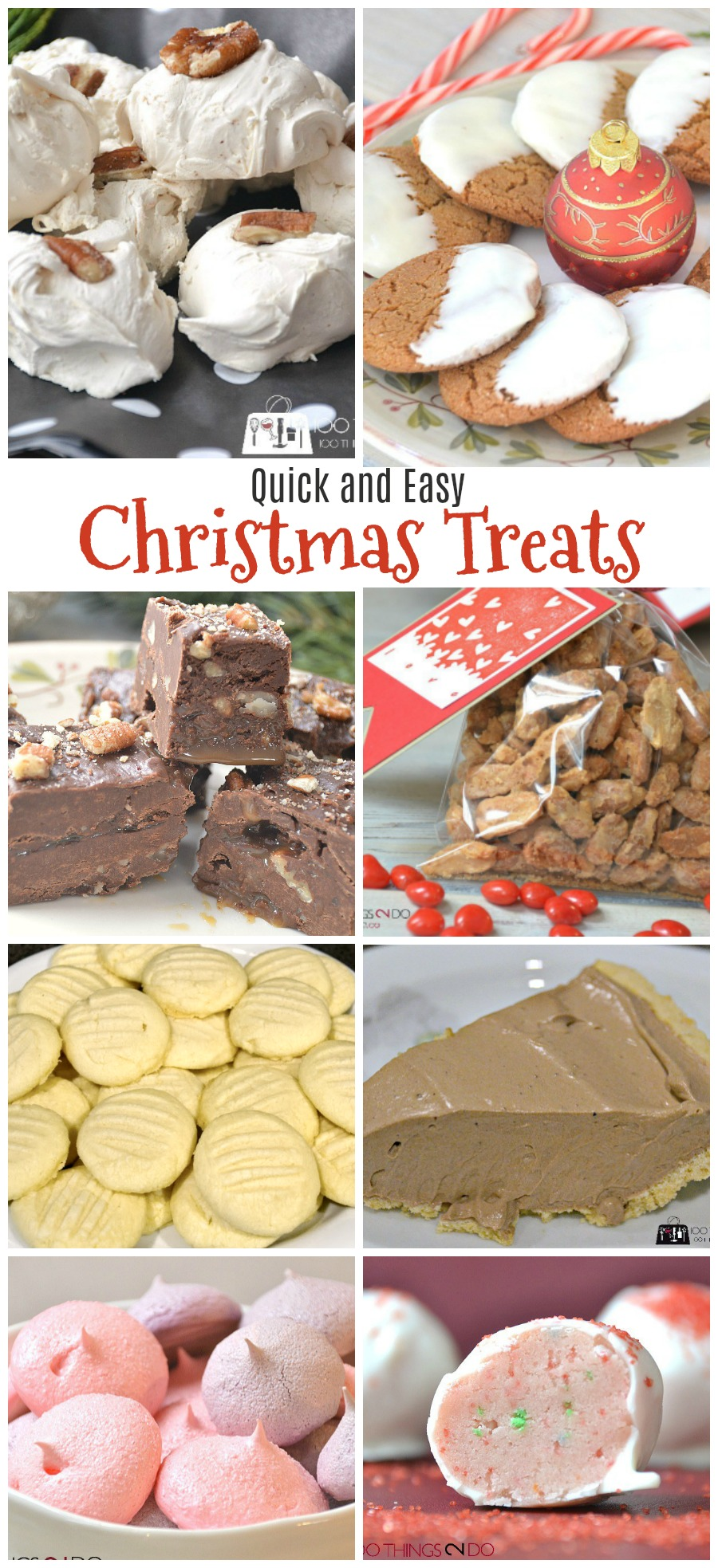 Quick and easy Christmas treats, Holiday baking, Christmas desserts, Christmas fudge, shortbread, no bake truffles, no-bake chocolate cream pie, candied nuts, beer nuts, divinity fudge, turtle fudge, ginger snaps