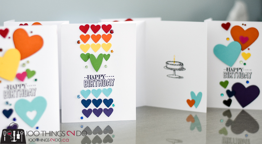 CAS birthday card, clean and simple cards, clean and simple birthday card, rainbow birthday card, birthday card, Stampin' Up Big Day