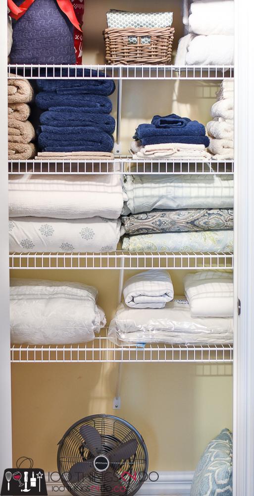 Organizing the linen closet, linen closet organization, linen closet, storing linens