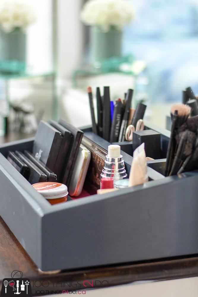 DIY makeup caddy, DIY makeup organizer, makeup organization, makeup storage