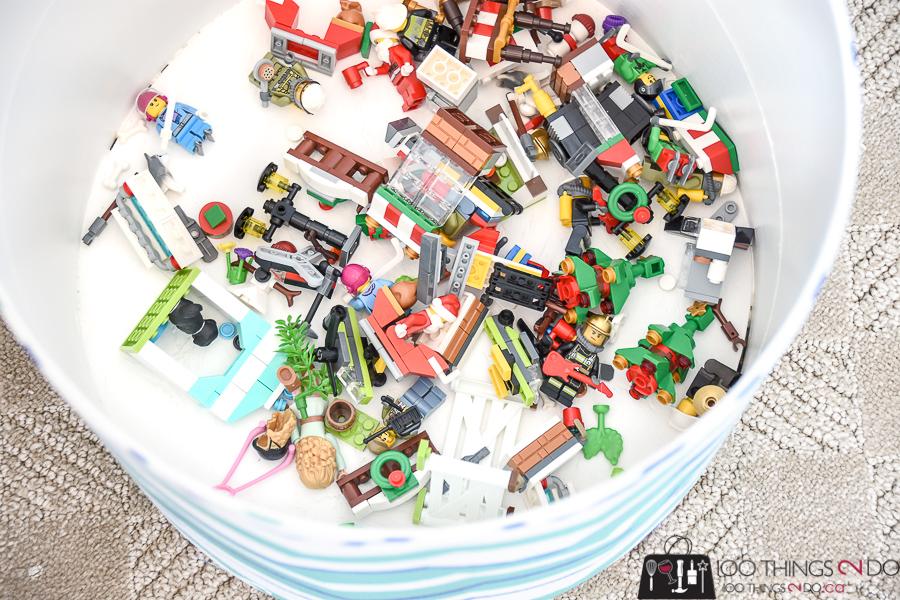 Fabric hamper, concrete form ideas, simple toy bin, round bucket, toy hamper, fabric storage bins