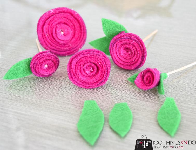 Felt flowers, felt flower, ranunculus, felt ranunculus, felt rosette
