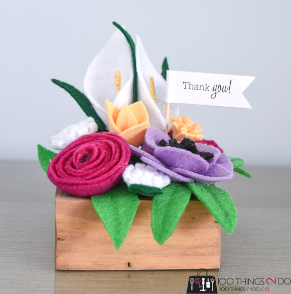 Felt flowers, felt flower, felt flower bouquet, thank you gift, get well gift idea