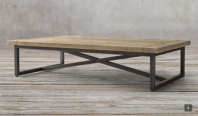 Restoration Hardware Torano rectangular coffee table