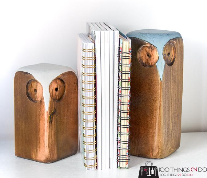 Scrap wood project, scrap wood ideas, scrap wood owls, wood owls, owl bookends