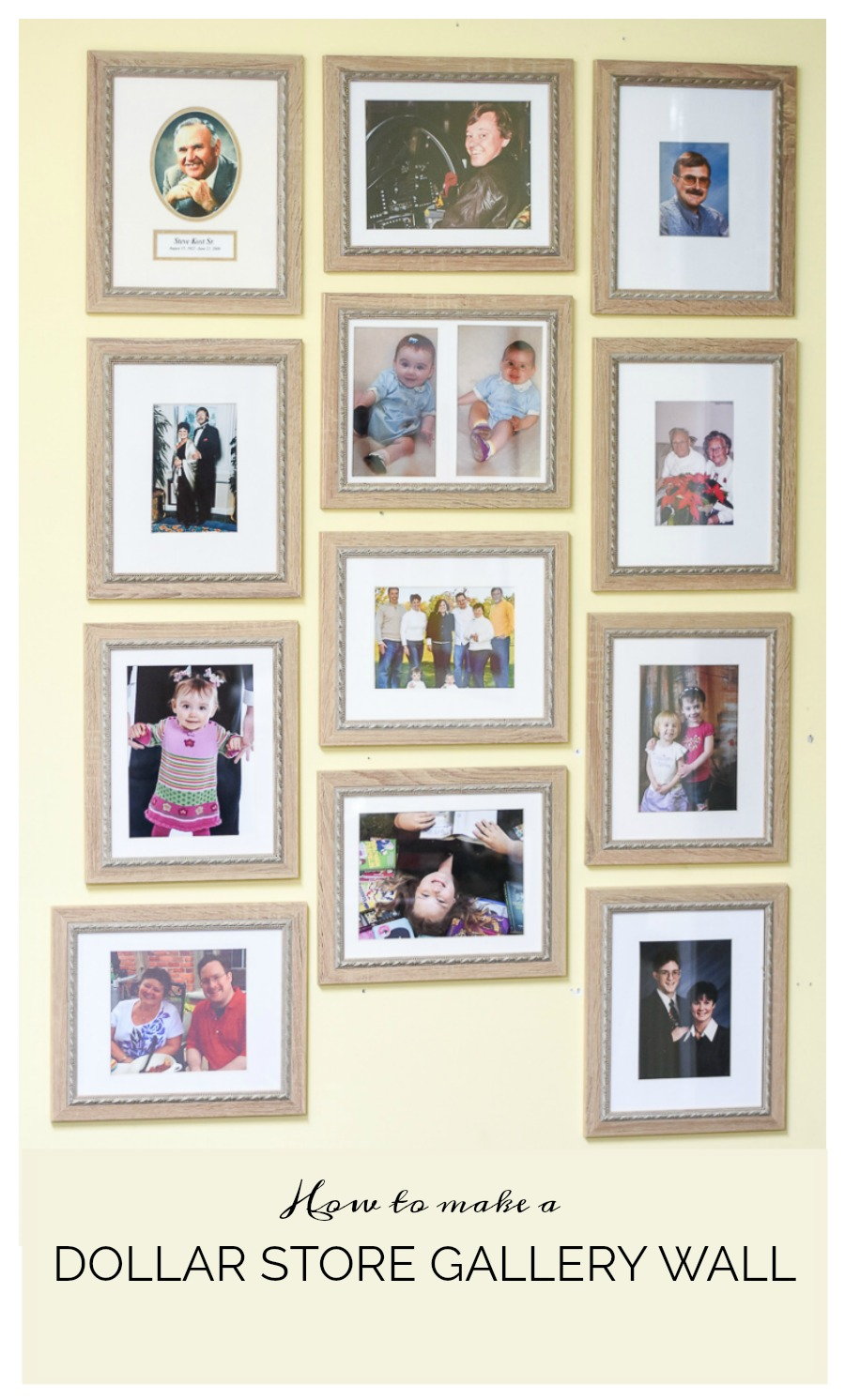 Dollar store gallery wall - how to cut your own picture mats   100 ...