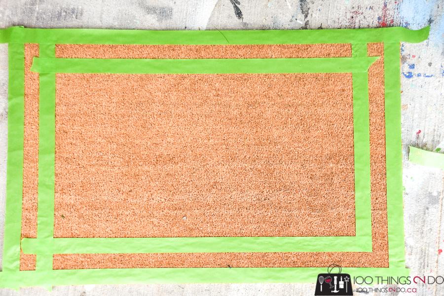 Welcome mat, DIY welcome mat, coir mat, monogrammed welcome mat, front door mat